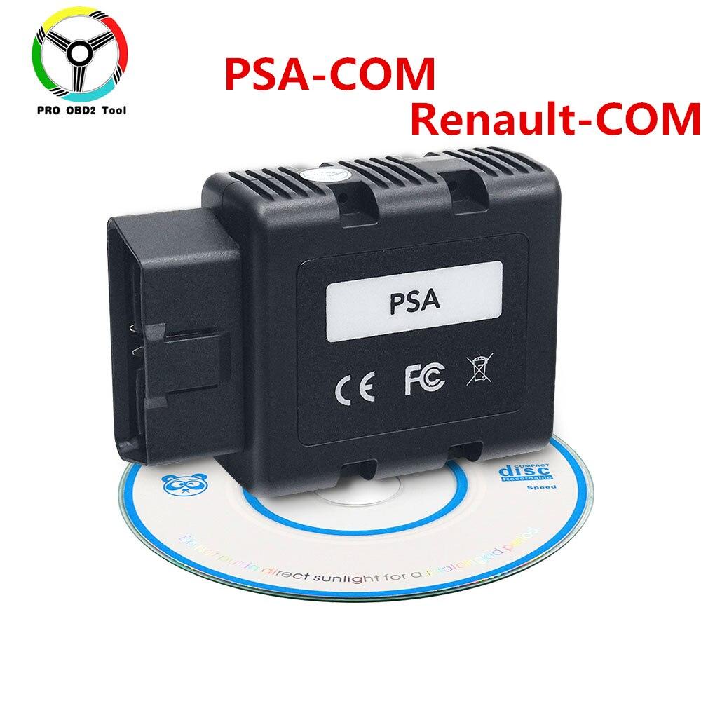Quality PSA-COM Bluetooth Connect for Citroen for Peugeot Replace of Can Clip Renault COM PSA COM OBD2 Diagnostic Tool